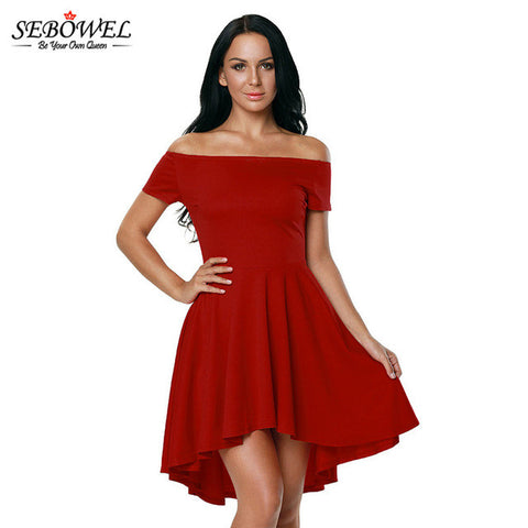 Vintage Off Shoulder Elegant Womens Dresses - On Trends Avenue