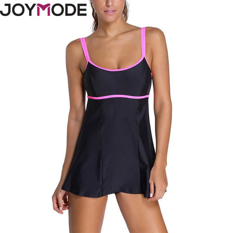 JOYMODE 2017 Sport Bikini Women One Piece Swimsuits Conjoined Swimming Dress Back Plus Size Tankini Classic Athletic Bodysuit -D