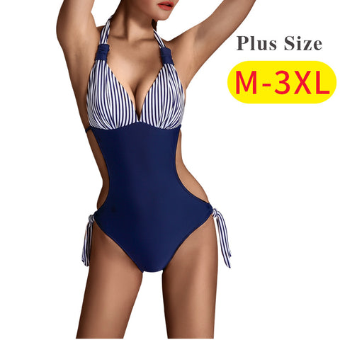 SEABBOT 2017 new sexy swimwear swimsuit women push up plus size xxxl female swimsuit one piece bathing suit for women monokini