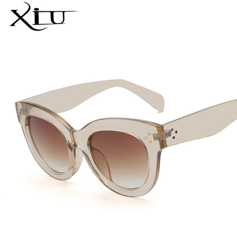 Cat Eye Sunglasses Women Brand Designer Sun glasses Retro Vintage Rose Gold Points Female Top Quality Oculos De Sol Feminino - On Trends Avenue