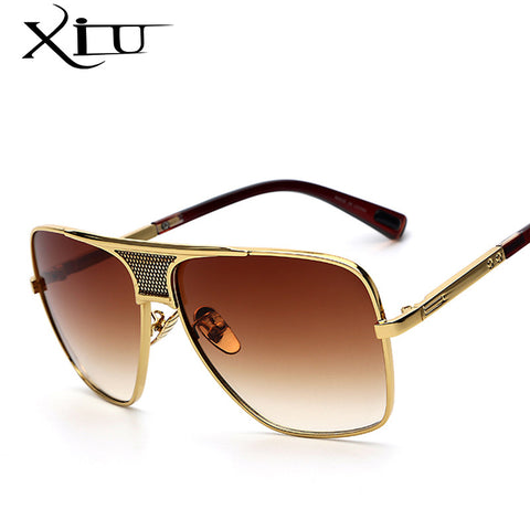 XIU Men's Sunglasses Newest Vintage Oversized Frame Goggle Summer Style Brand Designer Sun Glasses Oculos De Sol UV400 - On Trends Avenue