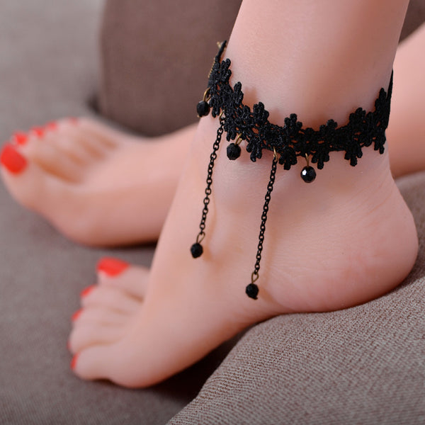 2017 Special Offer Real Tornozeleira Princess Lolita Anklets Vintage Fashion Lace Women's Anklet Anklebraclet - On Trends Avenue
