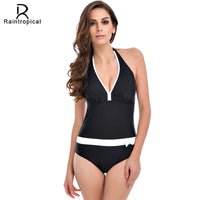 2017 New One Piece Swimsuit Women Vintage Bathing Suits Halter Top Plus Size Swimwear Sexy Monokini Summer Beach Wear Swimming - On Trends Avenue