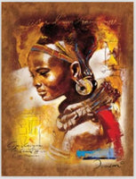 100% Handmade Portrait Oil Painting on Canvas African Woman Painting Wall Decor Living Room Wall Art Vertical No Framed - On Trends Avenue