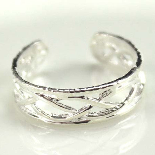 10 Pcs Adjustable Silver Plated Open Jewelry Toe Rings for Women Party Gift - On Trends Avenue