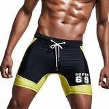 Brand Swimwear Men Sexy Swimsuit Swimming Trunks Beach Man Swim Long Boxer Short Bathing Suit Tight Board Surfing Sport Shorts - On Trends Avenue