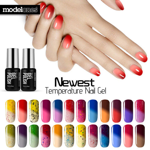 Modelones 7ML Thermal Temperature Change Color Nail Gel Polish Soak Off UV Chameleon Gel Polish Led Nail Polish Hot Yellow Gel - On Trends Avenue