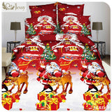 3D Halloween Bedding Set Skull Bedding Set Merry Christmas Bedding 4pcs Fairness Cosiness Comfortable Twin Queen King - On Trends Avenue
