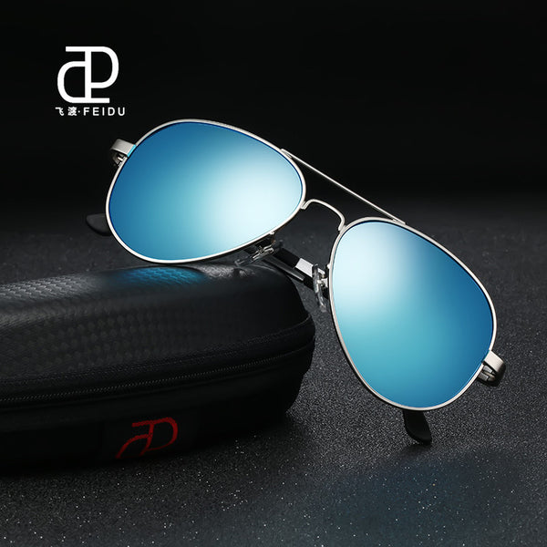 215627045fb FEIDU 2017 High Quality Pilot Alloy Polarized Sunglasses Men Retro Classic  Alloy Frame Sun Glasses Male ...