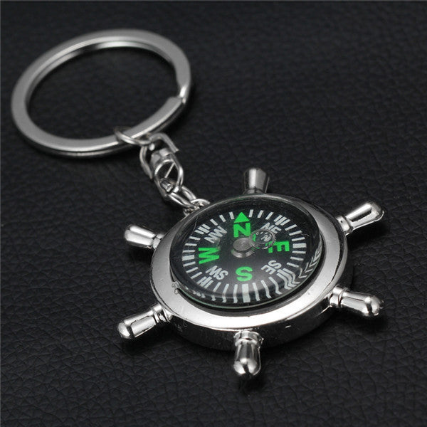 Unique Creative Glossy Alloy Keychain Keyrings Compass Rudder bottle opener Key Chain Best Gifts - On Trends Avenue