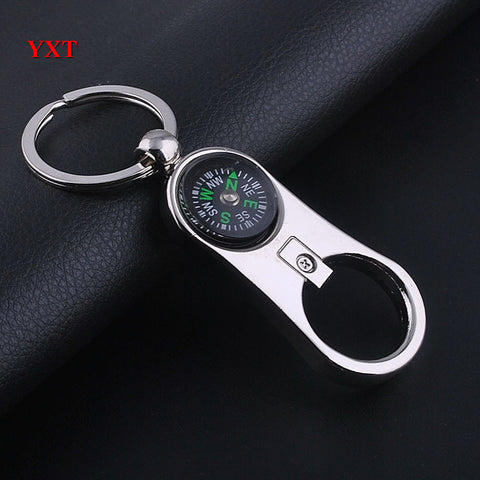 Beer Bottle Opener Compass Key Chain Man Style Stainless Cool Car Keyring Creative Party Friend Gift - On Trends Avenue