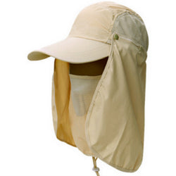 Which in shower Gardening Travel Hiking Face Neck Protector Hat Jungle Mountain Climbing Quick Dry Bucket hat Polyester Sun Cap - On Trends Avenue
