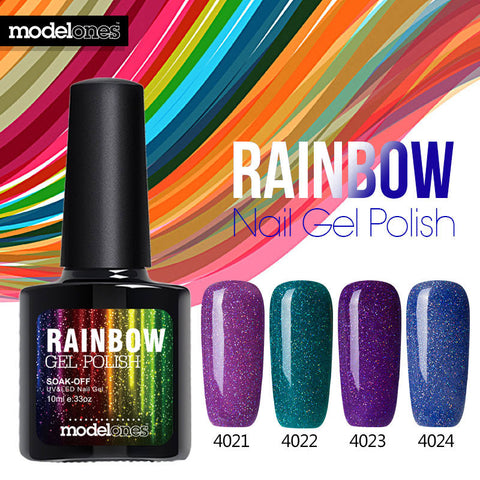 Beautiful Neon Rainbow Nails 10ML UV Nail Gel Polish Professional Long-lasting Nail Gel Varnish for Nail Art Design - On Trends Avenue