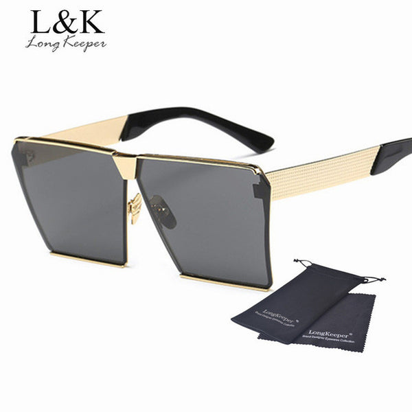 2017 New Square Sunglasses Men Women Luxury Quality Sunglasses Brand Design Mirror Sun glasses Flat Top Metal Alloy Eyeglasses - On Trends Avenue