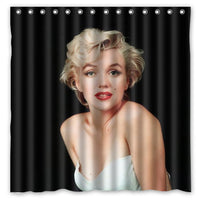 180x180cm New Arrival Waterproof Fabric Marilyn Monroe Design Bathroom Shower Curtain Polyester Bath Curtain - On Trends Avenue