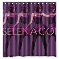 180x180cm Waterproof Bath Shower Curtain with Hooks Selena Gomez Bathroom Curtains Rideau de douche Cortina de la ducha - On Trends Avenue