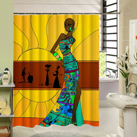 2017 New Different Custom Waterproof Bathroom African Woman Shower Curtain Polyester Fabric Bathroom Curtain - On Trends Avenue