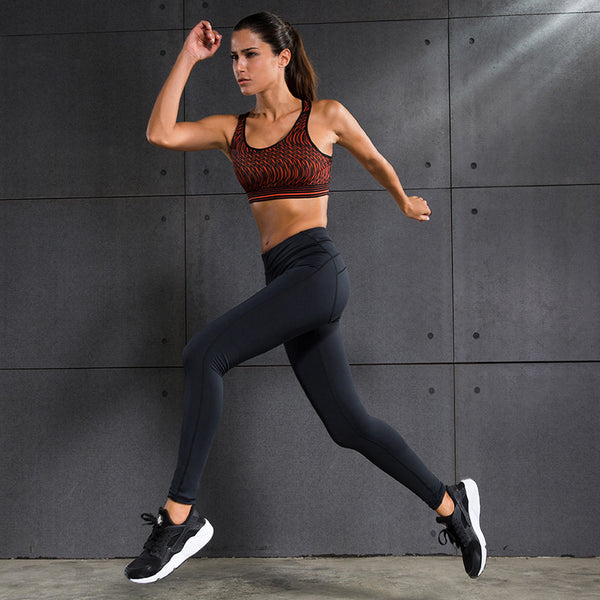 Women Sexy Sports Yoga SetS Sports Bras & Pants Running Gym Sportwear Push Up Bras Elastic Capris Fitness Tights Female Suits