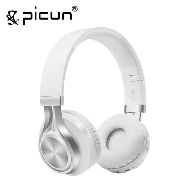 Picun BT-06 Over-ear Wireless Bluetooth 4.0 Headphones Foldable Stereo with Build-in Microphone, Wired Music Headsets MP3 - On Trends Avenue