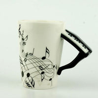 Creative Music Violin Style Guitar Ceramic Mug Coffee Tea Milk Stave Cups with Handle Coffee Mug Novelty Gifts - On Trends Avenue