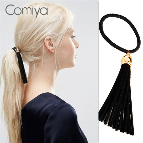 Comiya black tassel pendants hairbands hair accessories for women simple decoration korean stylish charming elegant bijoux - On Trends Avenue