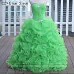 Grass Green Quinceanera Dresses Ball Gown With Beads Vestido de quinceanera vestidos de noi Vestidos De 15 Anos - On Trends Avenue