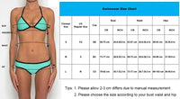 New Women Print Bikini Set Sexy Tie Dye Swimwear Crop Top 3 Colors High Neck Bikini With Padded String Caged Swimsuit 15293 - On Trends Avenue