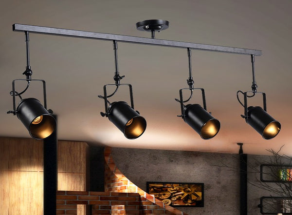 industrial bar lighting. Arts Lamp Track Light Retro Space Modern Minimalist American Industrial  Bar Clothing Store Spotlights Ceiling Background Lighting E