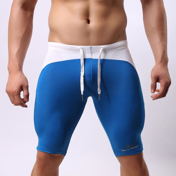 Multifunction Sport Wear Shorts Men Swimwear Swimming Shorts Long Swimming Trunks Sexy Swimsuit Swim Boxer Briefs Brave person - On Trends Avenue
