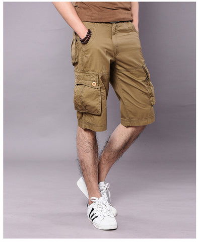 Mens Cargo Shorts Casual Cotton Multi Pocket Summer Man Short Pants Military Big Size Bermuda 2017 Brand cotton Fashion Style - On Trends Avenue