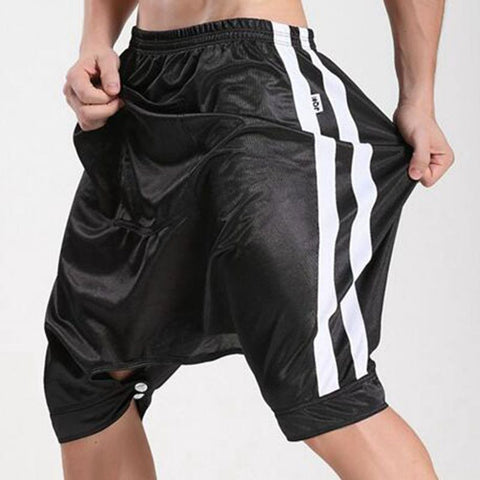 Casual Harem Shorts Men Summer culottes fashion Sporting Basketballs shorts male open-crotch capris trousers man good quality - On Trends Avenue