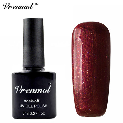 Vrenmol 1pcs Matt Matte Top Coat UV LED Matt Top Gel Black Pink and Dark Red  UV Gel Polish Soak Off Gel Lacquer nail gel - On Trends Avenue