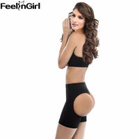 Sexy women butt lifter big size boyshort body shaper with tummy control butt enhancer panty black booty lifters underwear -D-E - On Trends Avenue