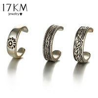 17KM Punk Style Sexy Carved Heart Toe Ring Sets Party Rings for Women Man Boho Vintage Fashion Anillos Beach Foot Jewelry - On Trends Avenue