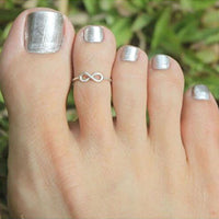 2 pcs Silver Simple Knot Open Adjustable Toe Ring for Women Creative Foot Finger Rings Female Charm All-match Jewelry - On Trends Avenue