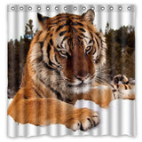 2017 Tiger Waterproof Shower Curtain Polyester Fabric Bath Curtains Cortinas Para Banheiro Hot Sale 180x180cm - On Trends Avenue