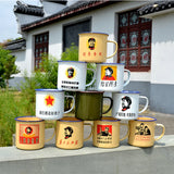 Free shipping smallsweet vintage mugs with handgrip metal cast iron traditional Chinese coffee mug - On Trends Avenue
