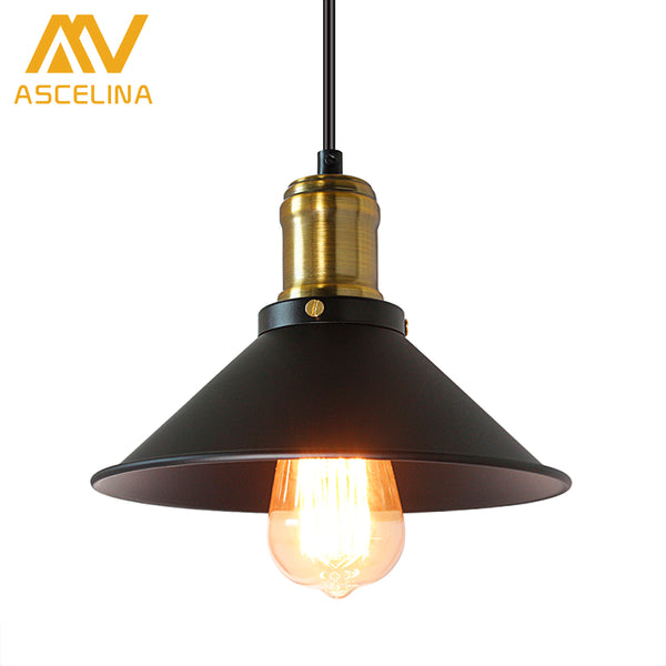 ASCELINA American Retro Industrial Wind Style Pendant Lights Creative Rustic Style Hanging Lamps Bar Cafe Restaurant Iron e27 - On Trends Avenue