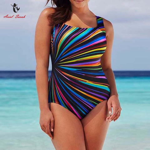Colorful Plus Size Swimwear Swimsuit Sexy Monokini Maillot De Bain Large Size Swimwear - On Trends Avenue