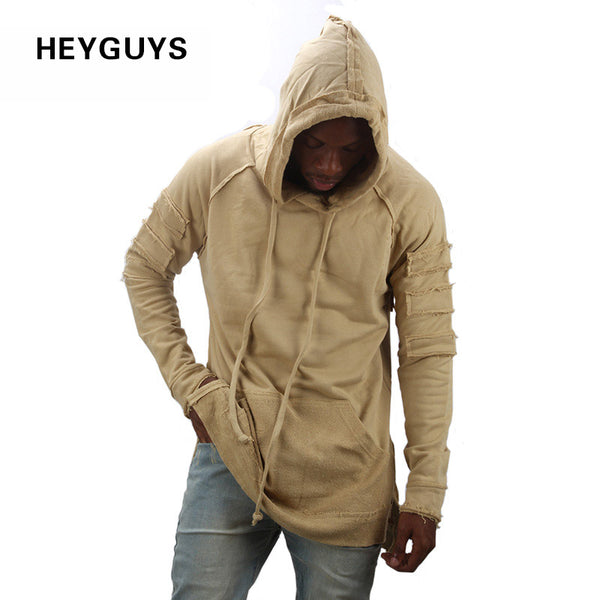HEYGUYS new design hoodie ripped damage men color fashion sweatshirts brand original design casual pullover  autumn hip hop - On Trends Avenue