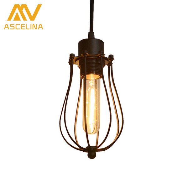 ASCELINA LED Pendant light Edison light bulb loft American country pendant lamp lighting industry Vintage iron Lamps for home - On Trends Avenue