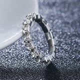 5Pcs/lot Row Crystal Foot Rings for Women Silver Chain Rhinestone Crystal Adjustable Stretch Foot Toe Rings - On Trends Avenue