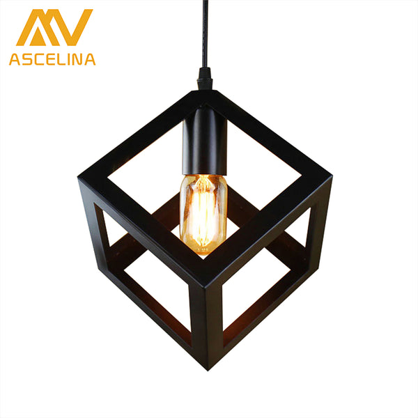 pendant lamp American village square pendant creative living room light loft of the Quartet iron lighting bedroom balcony - On Trends Avenue