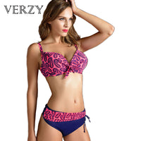 New Plus size Bikinis women Sexy push up bikini Padded bra Brazilian biquini Halter Neck Women's bikinis stripes swimsuit - On Trends Avenue