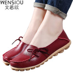 Large size leather Women shoes flats mother shoes girls lace-up fashion casual shoes comfortable breathable women flats SDC179 - On Trends Avenue