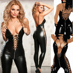 Sexy Lingerie Hot Women Prisoners Wild Charm Pu Leather Teddy Sexy Babydoll Erotic Lenceria Club Mini Dress Costumes - On Trends Avenue