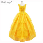 2017 Beauty And The Beast Costumes Princess Belle Dresses Adult Fancy Cosplay Halloween Costume For Women Yellow Fantasias Dress - On Trends Avenue