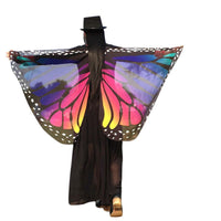 2017 Soft Fabric Butterfly Wings Shawl Fairy Ladies Nymph Pixie Chiffon Costume Accessory Beach Cover Up Shawl Wrap - On Trends Avenue
