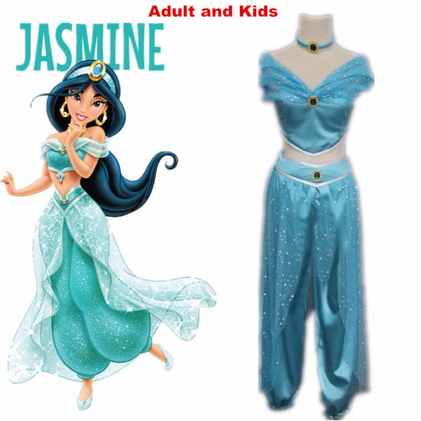 Aladdin Princess Jasmine cosplay costume Adult Halloween Costumes for women party sexy Jasmine dress - On ...  sc 1 st  On Trends Avenue & Aladdin Princess Jasmine cosplay costume Adult Halloween Costumes ...