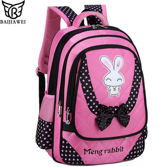 BAIJIAWEI 2017 New Primary School Bags For Children Princess Style Bag Big Capacity Backpacks For Girls Waterproof Kids Backpack - On Trends Avenue